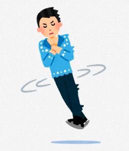 フィギュアスケートでジャンプしている