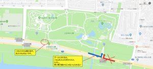 辻堂海浜公園の駐車場地図