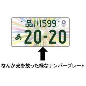 東京オリンピック仕様のナンバープレート