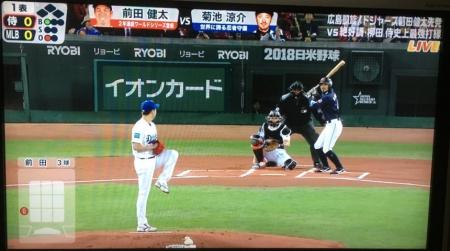 前田健太と菊池涼介の対戦