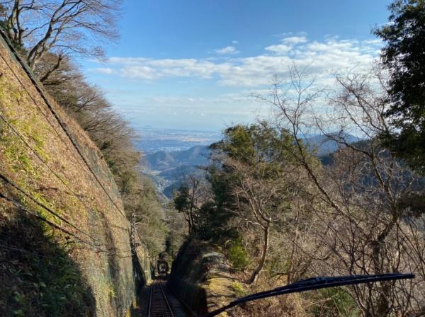 ケーブルカーからの景色